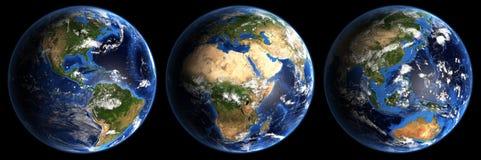 Alugueres da terra do planeta Fotografia de Stock