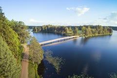 Aluksne lake, Latvia. Stock Images