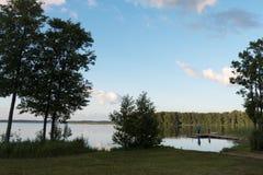 Aluksne lake, Latvia. Royalty Free Stock Photos