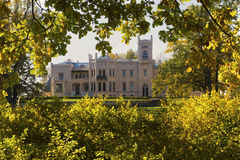 Aluksne New Castle in Latvia during autumn Stock Photography