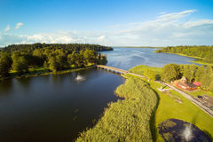 Aluksne sjö, Lettland Arkivbilder