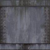 Alumínio escovado rebitado Imagem de Stock