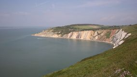 Alum Bay Isle of Wight by the Needles landmark Stock Photography