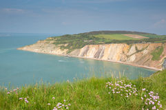 Alum Bay Isle of Wight by the Needles tourist attraction Royalty Free Stock Photo