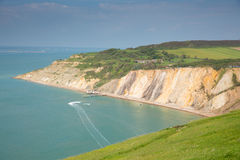 Alum Bay Isle of Wight by the Needles tourist attraction Royalty Free Stock Image