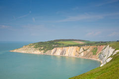 Alum Bay Isle of Wight next to the Needles tourist attraction Stock Photography