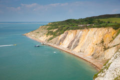 Alum Bay Isle of Wight next to the Needles tourist attraction Stock Image
