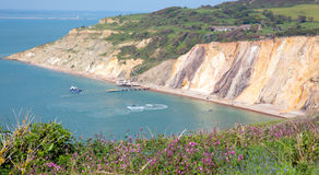 Alum Bay Isle of Wight next to the Needles tourist attraction Royalty Free Stock Photo