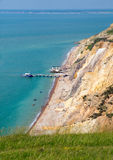 Alum Bay Isle of Wight next to the Needles tourist attraction Royalty Free Stock Photos