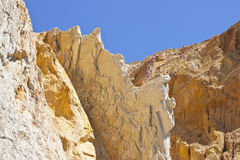 Alum bay - multi-coloured sand. Multi-coloured sand cliffs at ALum Bay, Isle of Wight stock photos