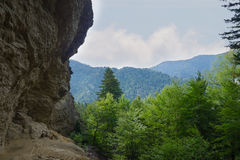 Alum Cave. View of Alum Cave in the Great Smoky Mountains National Park Stock Images