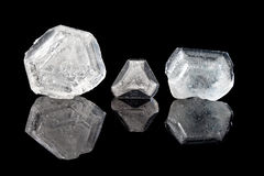 Alum crystals. Home grown alum crystals, a science project and the easiest to grown minerals Royalty Free Stock Photos