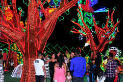 Alumbrado 2013 - Iluminação de Cristmas em Medellin foto de stock