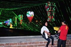 Alumbrado 2013 - Iluminação de Cristmas em Medellin imagem de stock royalty free