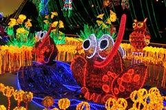 Alumbrado 2013 - Iluminação de Cristmas em Medellin imagens de stock royalty free