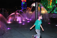 Alumbrado 2013 - Iluminação de Cristmas em Medellin fotos de stock