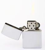 Alumbrador de plata del zippo Fotografía de archivo