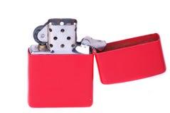 Alumbrador rojo del cigarrillo Foto de archivo libre de regalías