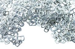 Aluminio del tirón del anillo de latas Fotos de archivo libres de regalías