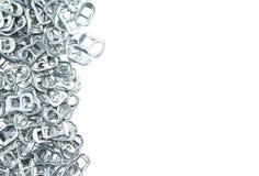 Aluminio del tirón del anillo de latas Imagenes de archivo
