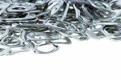 Aluminio del tirón del anillo de latas Fotografía de archivo libre de regalías
