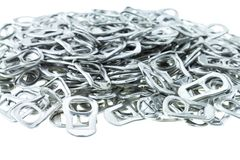 Aluminio del tirón del anillo de latas Imagen de archivo libre de regalías