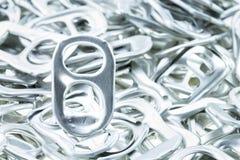 Aluminio del tirón del anillo de latas Foto de archivo libre de regalías