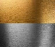 Aluminio y texturas cosidas bronce fotos de archivo