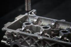 Aluminiowa auto części inspekcja wymiarowego czeka maszyną CMM Fotografia Royalty Free