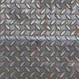 Aluminiowa ciemna lista z rhombus kształtami Obrazy Royalty Free