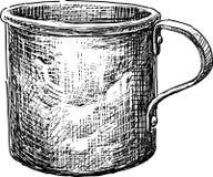 Aluminiowa filiżanka ilustracji