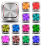 Aluminiowa glansowana ikona, guzik Zdjęcie Stock