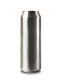 Aluminiowa puszka odizolowywająca na bielu. fotografia stock