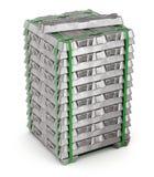Aluminiowego aliażu ingots zdjęcie stock