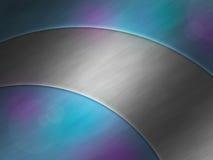 aluminiowego tła kruszcowy nowożytny talerz Zdjęcia Stock