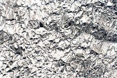 Aluminiowej folii tło Obrazy Stock