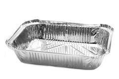 Aluminiowej folii taca Zdjęcia Royalty Free