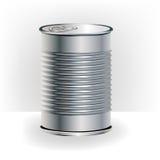 aluminiowej puszka jedzenie pojedynczy Fotografia Stock
