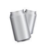 Aluminiowej puszki napoju soad lub piwo szablon Zdjęcia Stock