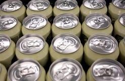 aluminiowi piwni słoje Obraz Stock