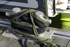 Aluminiowy cumownicy marina Obraz Royalty Free