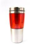 Aluminiowy czerwony kubek Obrazy Royalty Free