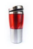 Aluminiowy czerwony kubek Zdjęcia Royalty Free