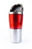 Aluminiowy czerwony kubek Zdjęcie Stock