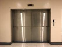 Aluminiowy drzwi, winda Obraz Stock
