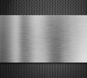 Aluminiowy metalu talerz nad grilla tłem Zdjęcie Royalty Free