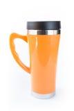 Aluminiowy pomarańczowy kubek Zdjęcie Stock