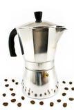 aluminiowych fasoli kawowy kawa espresso producent Zdjęcia Royalty Free