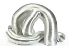 Aluminium air tubes Stock Photos