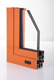 Aluminium alloy window detail. With whitebackground Royalty Free Stock Photo